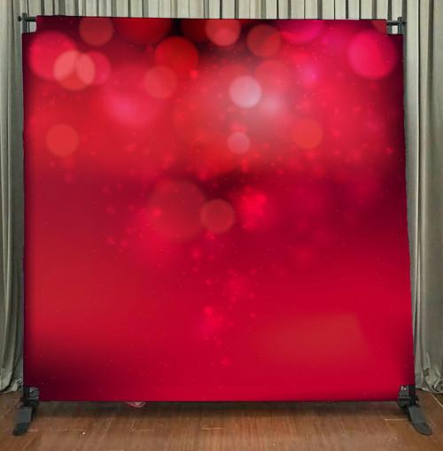 8x8 Printed Tension fabric backdrop - Red Bokeh | PB Backdrops