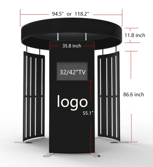 Customizable  360 Photo Booth Enclosure (Fabric Only)