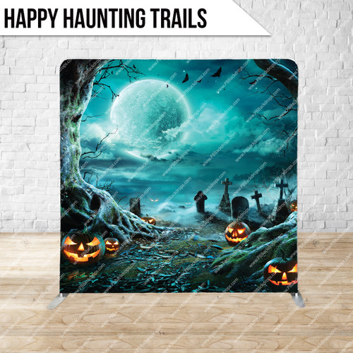 Single-sided Pillow Cover Backdrop  (Happy Haunting Trails)