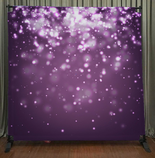8x8 Printed Tension fabric backdrop - Purple Bokeh | PB Backdrops