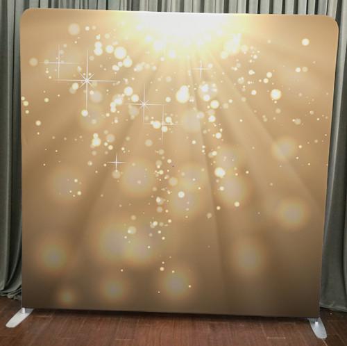 Single-sided Custom backdrop - Gold Light Bokeh | PB Backdrops | PB Backdrops