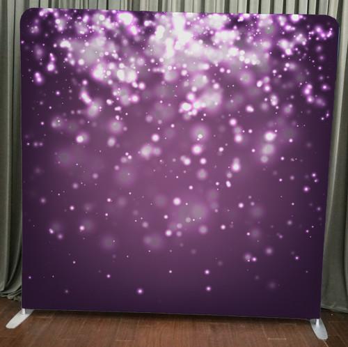Single-sided Custom backdrop - Purple Bokeh | PB Backdrops | PB Backdrops