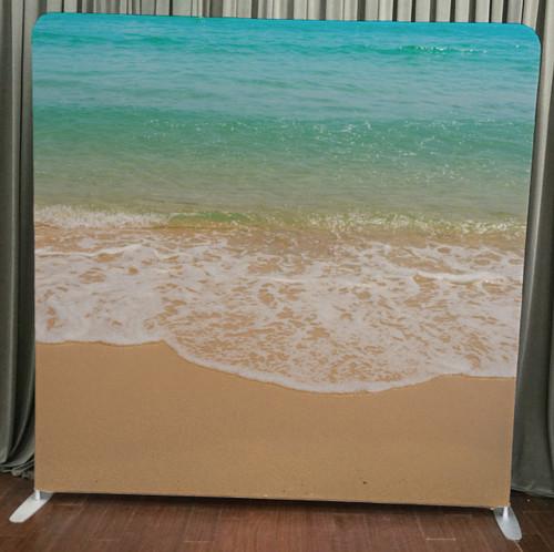 Single-sided Custom backdrop - Beach Time | PB Backdrops