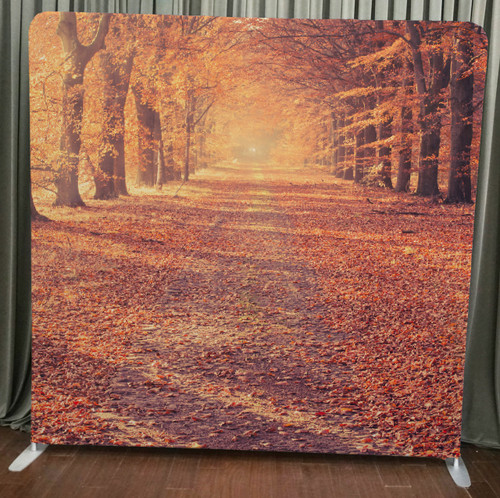 Single-sided Custom backdrop - Autumn Road | PB Backdrops