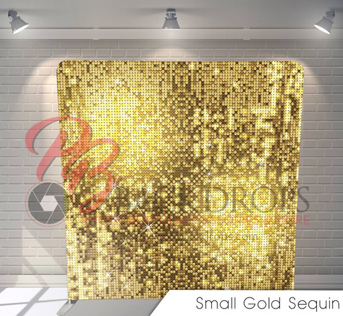 Single-sided Custom backdrop - Small Gold Sequins | PB Backdrops