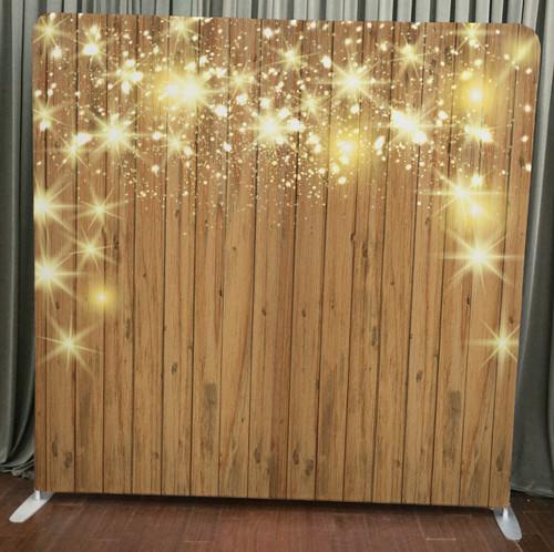 Single-sided Custom backdrop - Stars on Wood | PB Backdrops