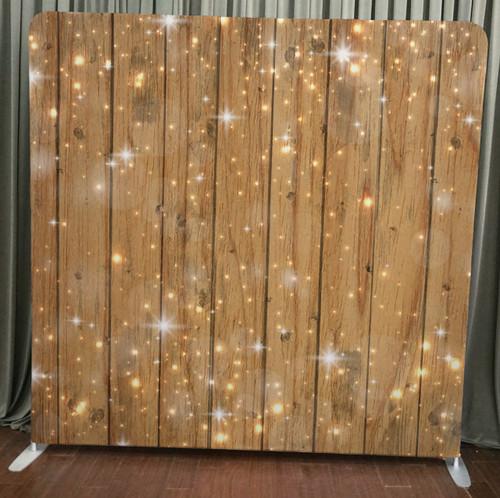 Single-sided Custom backdrop - Sparkles on Wood | PB Backdrops