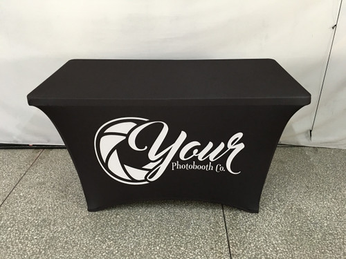 4ft Spandex Fabric Table Cover with Zipper in back - Custom Design | PB Backdrops