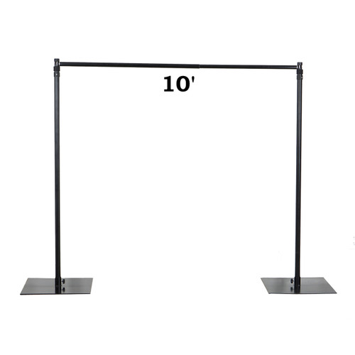 Heavy Duty Economical Pipe and Drape Kit Backdrop Support with Weighted Steel Base