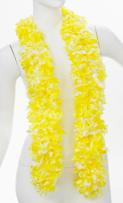 Original Featherless Boa - Luau Yellow | PB Backdrops