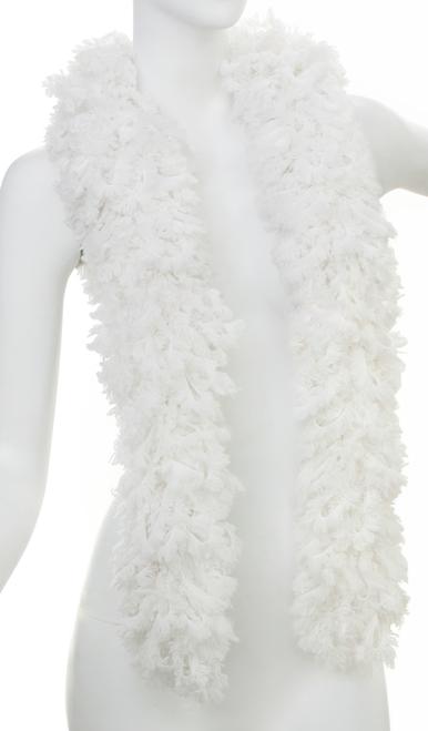 SUPER Sized Featherless Boa - - White | PB Backdrops