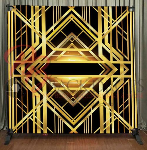 8x8 Printed Tension fabric backdrop - Gatsby-Art-decco | PB Backdrops
