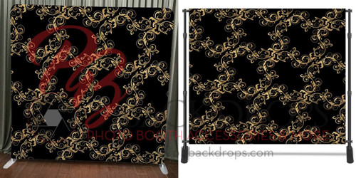 8x8 Printed Tension fabric backdrop - Vintage Gold | PB Backdrops