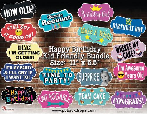 Happy Birthday Kid Friendly Bundle