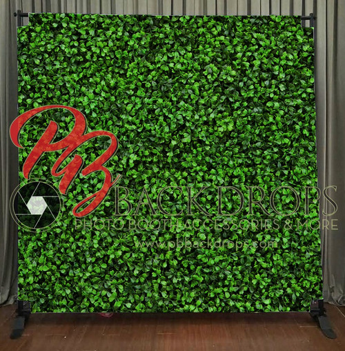 8x8 Printed Tension fabric backdrop - Hedge Wall | PB Backdrops