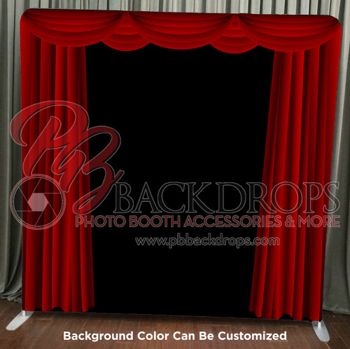Single-sided Pillow Cover Backdrop - Red or Blue Curtains | PB Backdrops