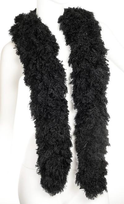 SUPER Sized Featherless Boa - - Black | PB Backdrops