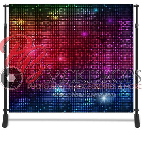 8x8 Printed Tension fabric backdrop - Disco | PB Backdrops