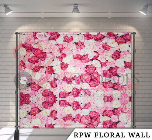 8x8 Printed Tension fabric backdrop (RPW Floral Wall)