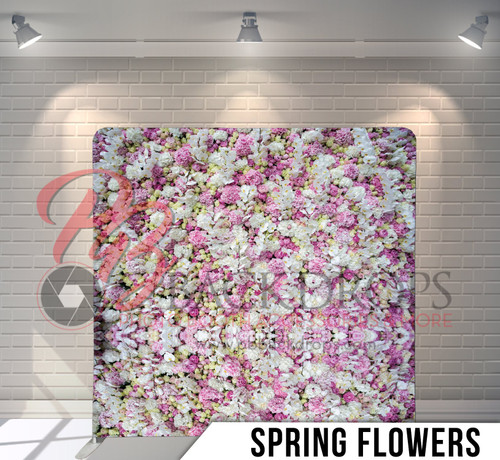 Single-sided Pillow Cover Backdrop  (Spring Flowers)