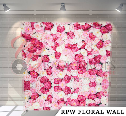 Single-sided Pillow Cover Backdrop (RPW Floral Wall)