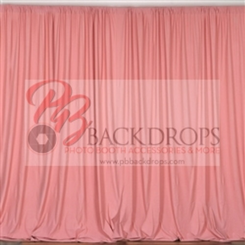 10 ft x 10 ft Polyester Professional Backdrop Curtains Drapes Panels -Quartz Pink