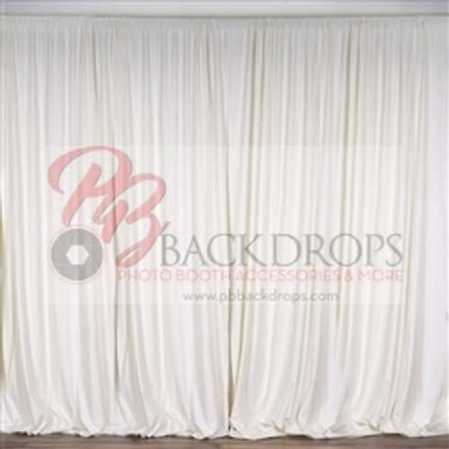 10 Ft X Polyester Professional Backdrop Curtains Drapes Panels Ivory