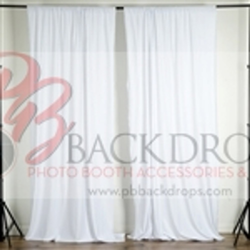 10 ft x 10 ft Polyester Professional Backdrop Curtains Drapes Panels -White