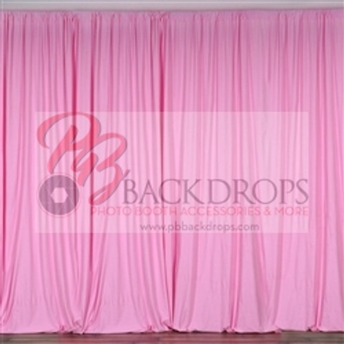 10 ft x 10 ft Polyester Professional Backdrop Curtains Drapes Panels -Pink