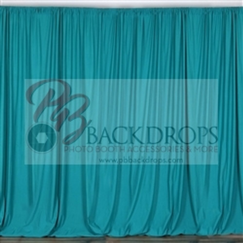 10 ft x 10 ft Polyester Professional Backdrop Curtains Drapes Panels -Torquoise