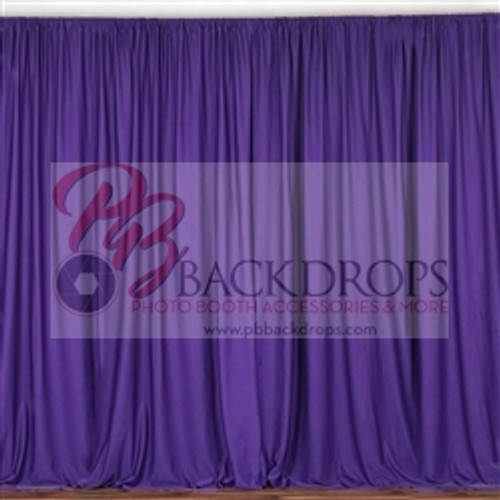10 ft x 10 ft Polyester Professional Backdrop Curtains Drapes Panels -Purple