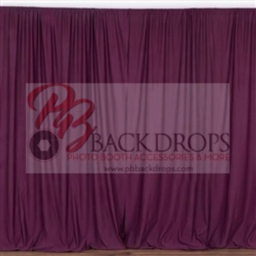 10 ft x 10 ft Polyester Professional Backdrop Curtains Drapes Panels -Eggplant Purple