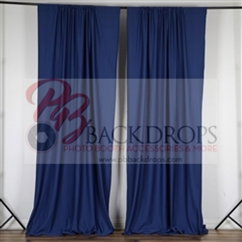 10 ft x 10 ft Polyester Professional Backdrop Curtains Drapes Panels -Navy