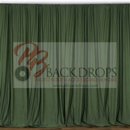 10 ft x 10 ft Polyester Professional Backdrop Curtains Drapes Panels -Willow Green