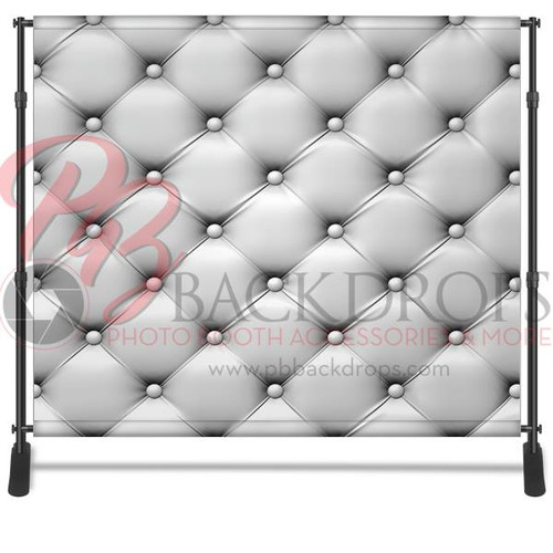 8x8 Printed Tension fabric backdrop - White Leather | PB Backdrops