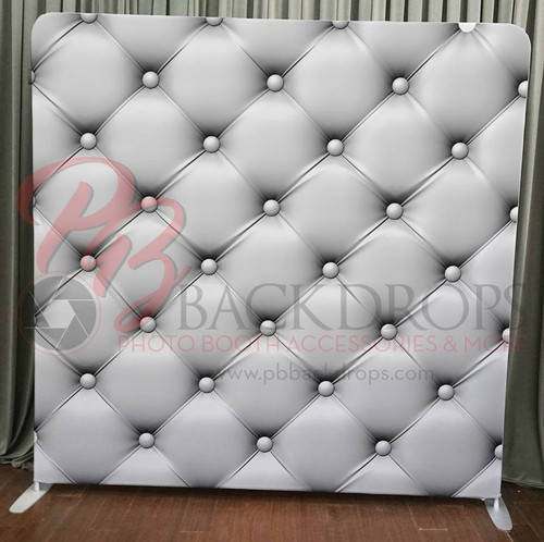 Single-sided Pillow Cover Backdrop  - White Leather | PB Backdrops