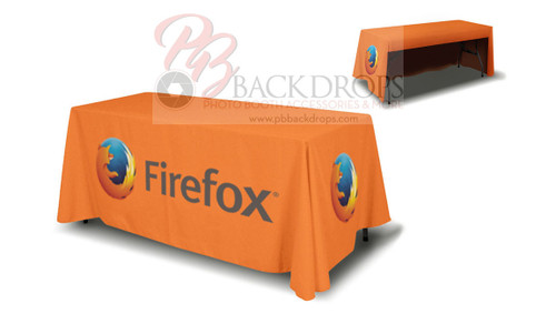 6ft Table Cover 3-sided - Open Back | PB Backdrops