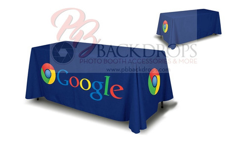 6ft Table Cover 4-sided - Close Back | PB Backdrops