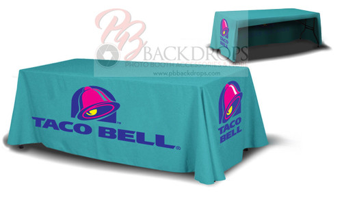8ft Table Cover 3-sided - Open Back | PB Backdrops