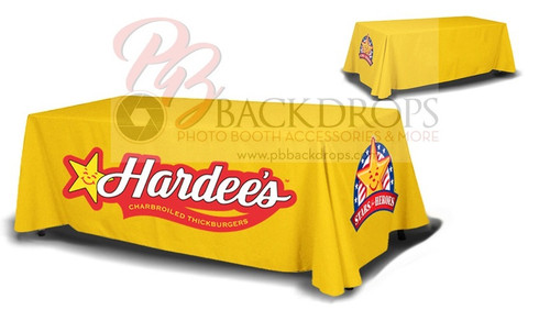 8ft Table Cover 4-sided - Close Back | PB Backdrops