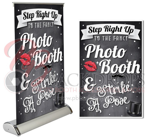 """Black Table Top Retractable -  Step Right Up 