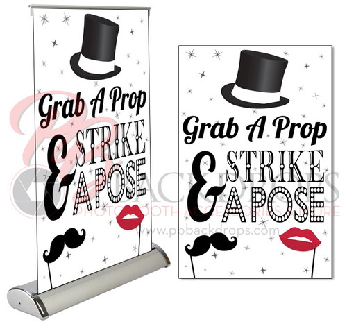 """White Table Top Retractable -  Step Right Up 