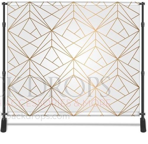 8x8 Printed Tension fabric backdrop (Gold Geometric)