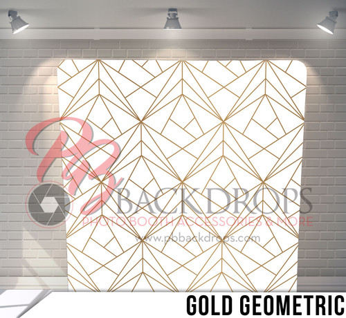 Single-sided Pillow Cover Backdrop  (Gold Geometric)