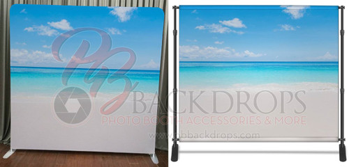 Single-sided Pillow Cover Backdrop  - Beach | PB Backdrops