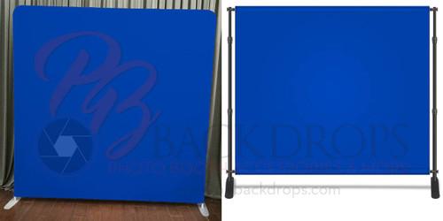 8x8 Printed Tension fabric backdrop - Chroma Blue | PB Backdrops