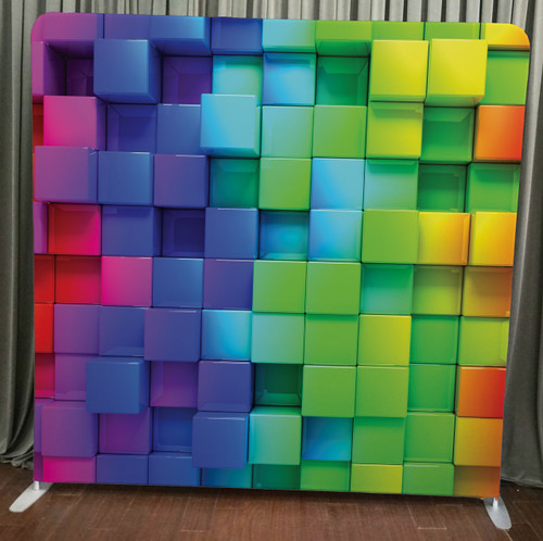 Single-sided Pillow Cover Backdrop  - Color 3D Cubes | PB Backdrops