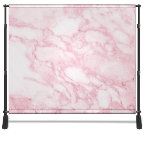 8x8 Printed Tension fabric backdrop - Pink Marble   PB Backdrops
