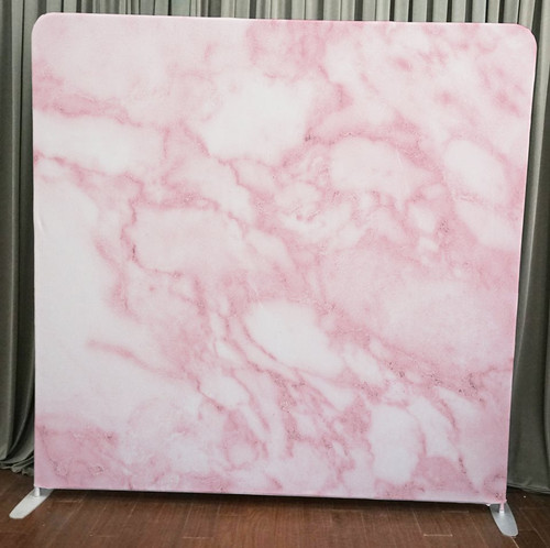 Single-sided Pillow Cover Backdrop  - Pink Marble | PB Backdrops