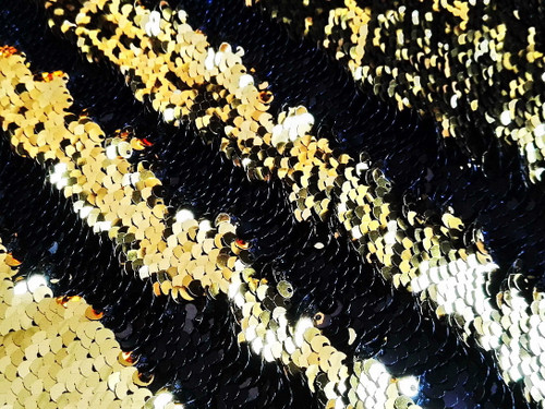 Mermaid Sequin Black and Gold Backdrop
